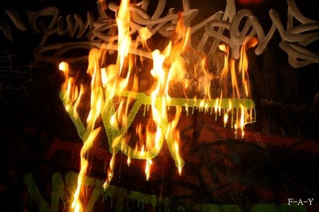 Fire Tagging Makes Graffiti a Bit More Dangerous