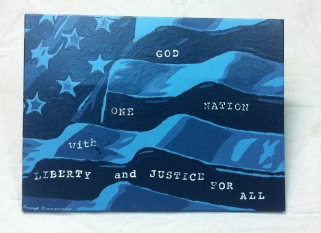 George Zimmerman Original Painting Is Going for Almost 100K on eBay