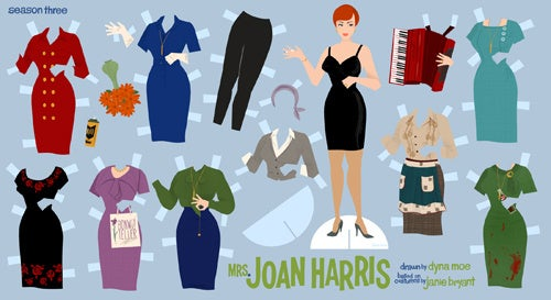 Joan Holloway Harris Paper Dolls