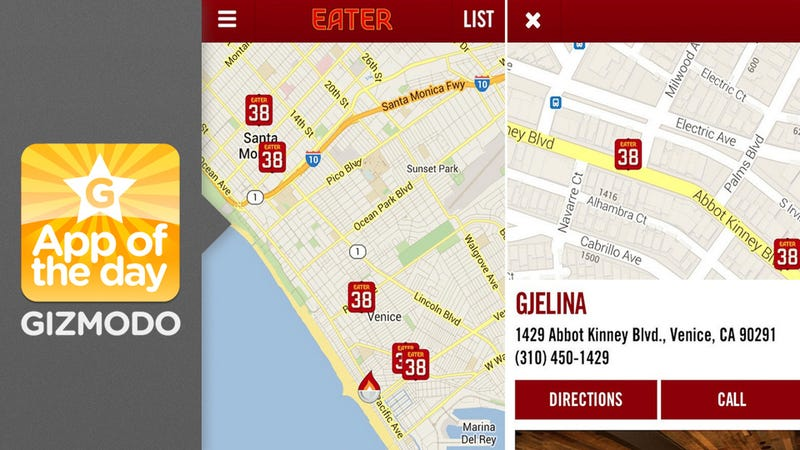 Eater App: Leave Your Dining Choices Up to the Pros
