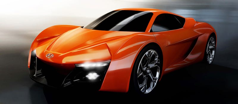 The Hyundai PassoCorto Concept Is Their Orange Alfa Romeo 4C-Fighter