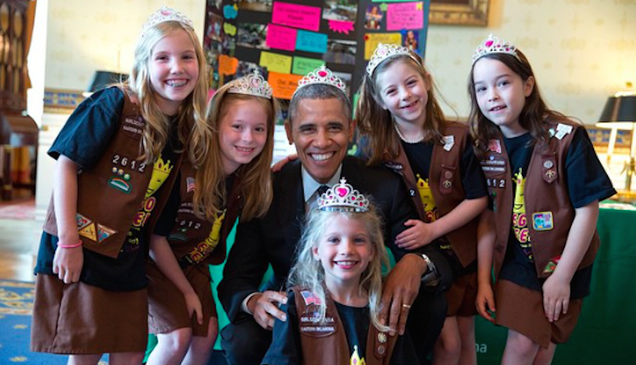 Our Nation's President Wears a Tiara Just Like a Little Girl