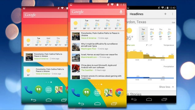 Google News and Weather Brings Glancable Updates to Your Home Screen