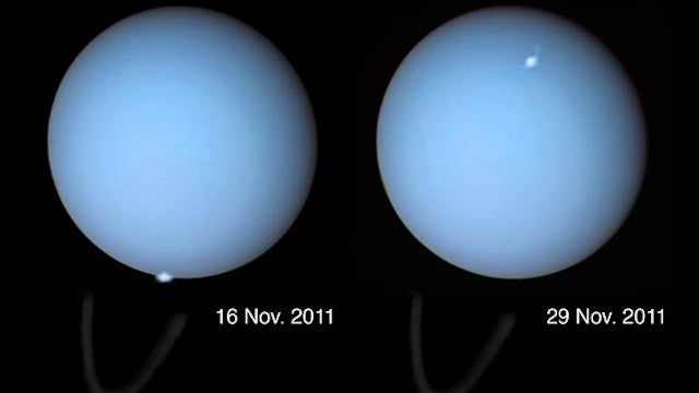 Auroras spotted on Uranus for the first time