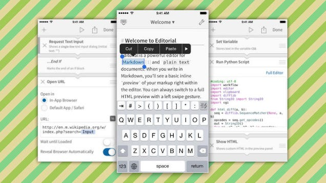 Editorial, the Powerful Text Editor for iPad, Gets an iPhone Version