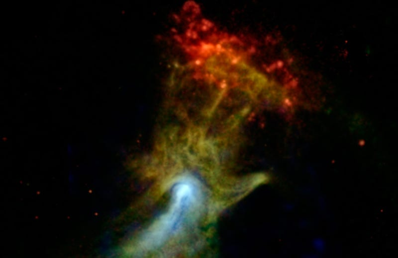 NASA captures the Flaming Fist of God 17,000 light-years away from us