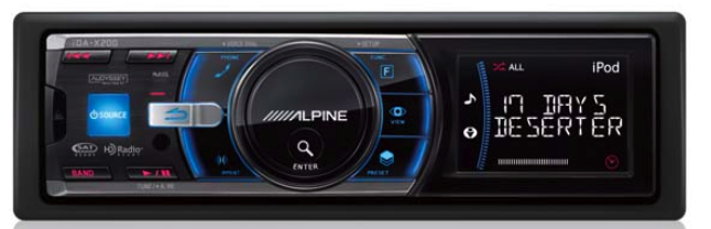 Alpine IDA-X100 iPod Headunit: Cool UI, Tags HD Radio Songs for iTunes Purchase