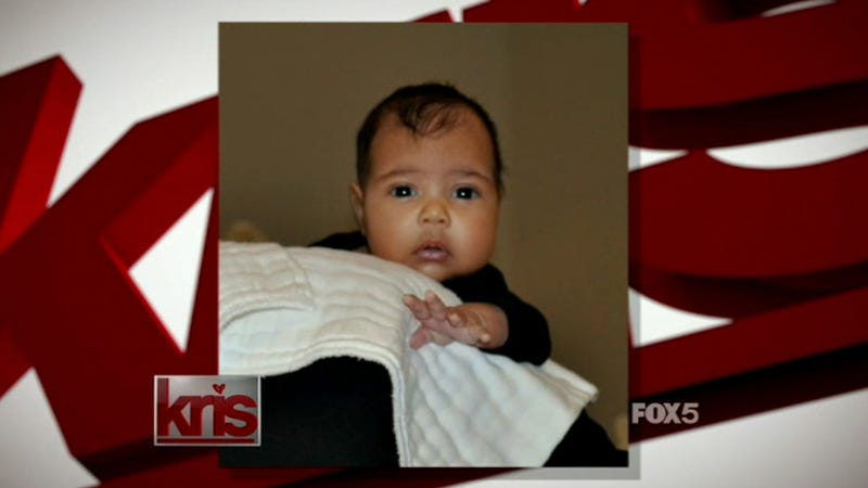 Here Is the First Image of Kanye West and Kim Kardashian's North West