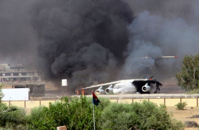 1.5 Million Gallons of Fuel on Fire After Rockets Strike Libyan Airport