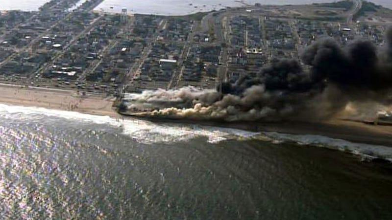 Jersey Shore Boardwalk Destroyed by Huge Fire