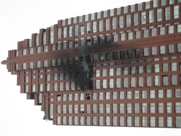 First Photos: Plane Crashes into Manhattan Building