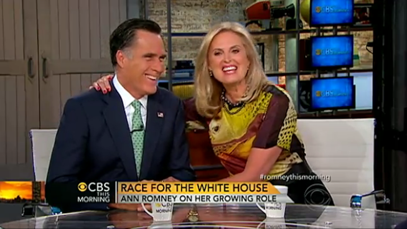 Ann Romney Awkwardly Describes Mitt as 'Wild & Crazy Man Just Waiting to Come Out'