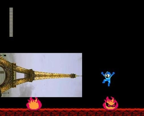 Mega Man Losing To The French In Robot Hall Of Fame Race