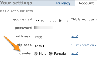 Change Your Account's Gender in Web Services to Avoid Annoying Advertisements