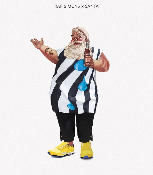 Designer postcards turn Santa into fashion whore