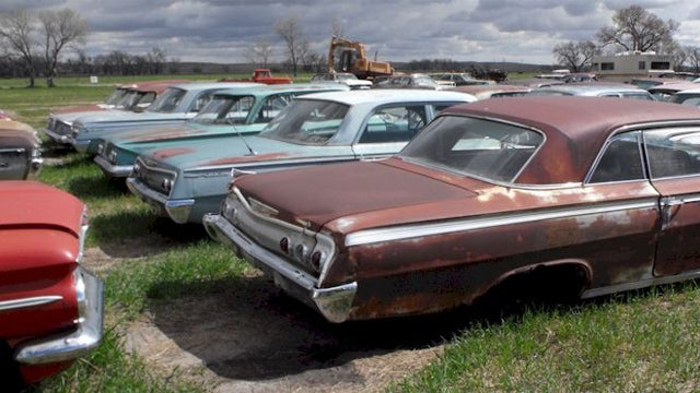 Classic cars of a huge Nebraskan junkyard get a second chance at life