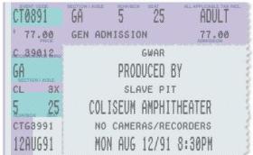 Create fake concert tickets