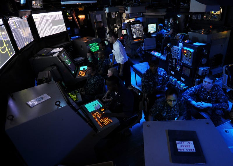 Inside the Brain of a US Navy Aircraft Carrier