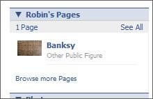 Evidence: Banksy's Facebook Page