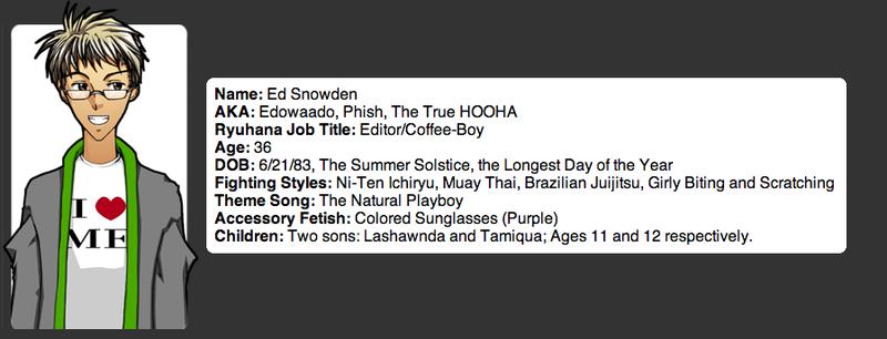 Here's NSA Leaker Edward Snowden's Anime Art Company Profile