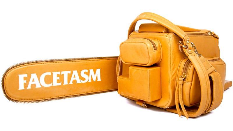 This Leather Chainsaw Bag Cuts Down Fashion Critics
