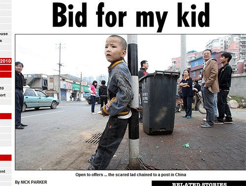 Father Tries to Auction Off Eight-Year-Old Son