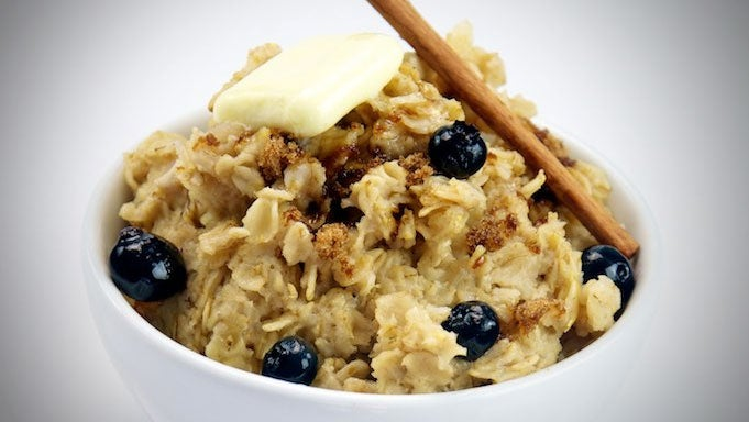 Cool Down Oatmeal in an Instant with Frozen Blueberries