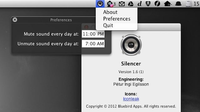 Silencer Mutes and Unmutes Your Mac On a Schedule Every Day