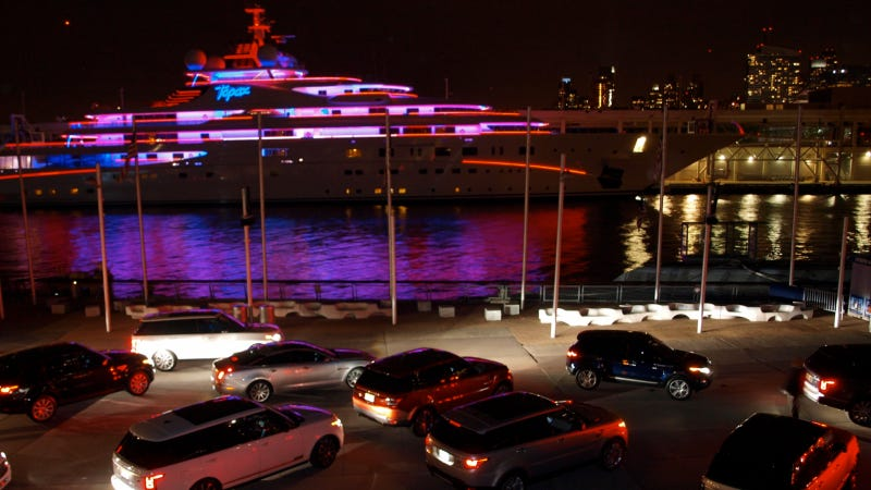 Somebody Drove The Fourth-Largest Yacht On Earth To Land Rover's Party