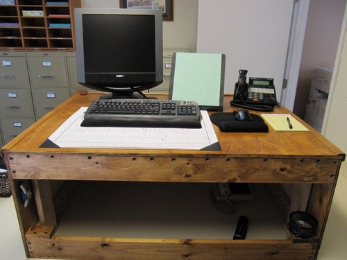 The Improvised Standing Desk - Gallery