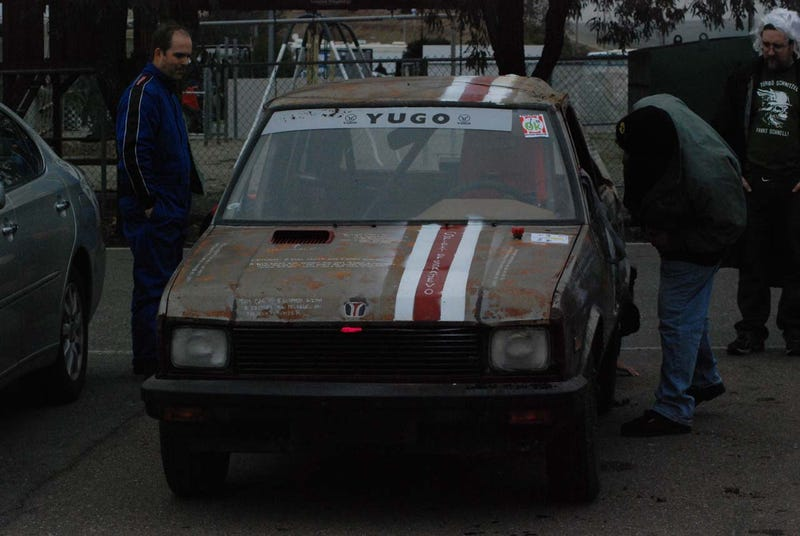 First-Ever Yugo Enters 24 Hours Of LeMons, Gets Shiny Side Down Soon After