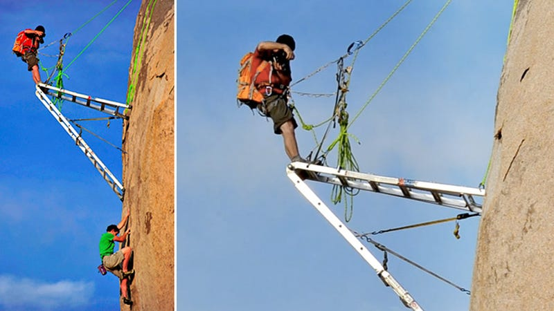 Photographing Mountain Climbers Takes Balls—And Ladders—Of Steel