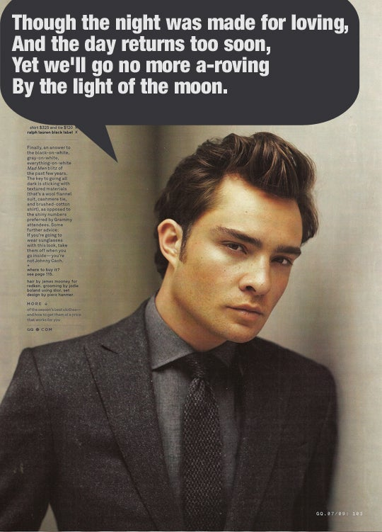 Ed Westwick In GQ: Poetry In Motion Emotions