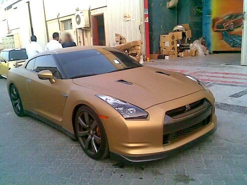 GT-R Skips Matte Black, Goes Straight To Matte Gold!