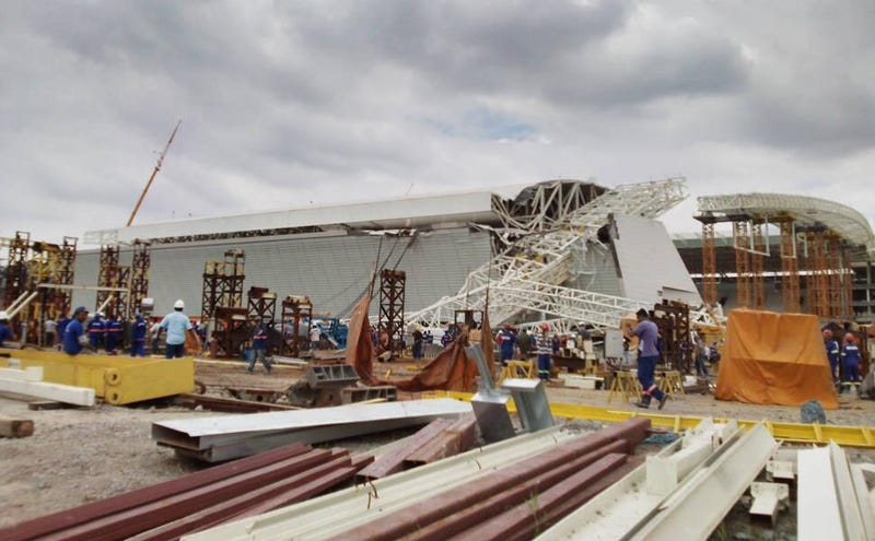 Crane Collapse At Brazil World Cup Stadium Kills 3