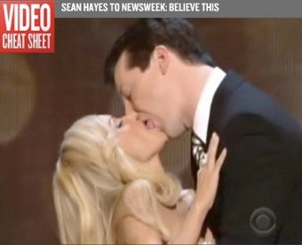 Watch Sean Hayes Make Out With Kristin Chenoweth