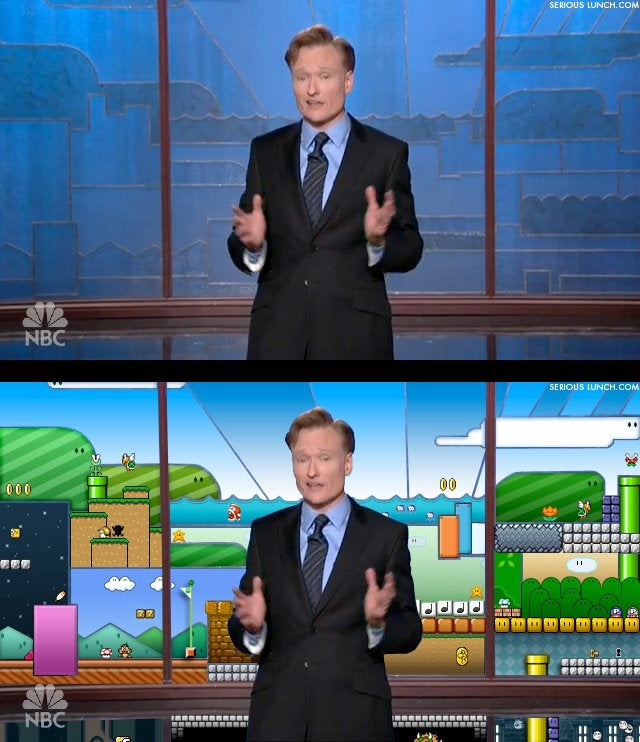 "Nintendo On Conan's New Mario-Style Backdrop: ""That's Great"""