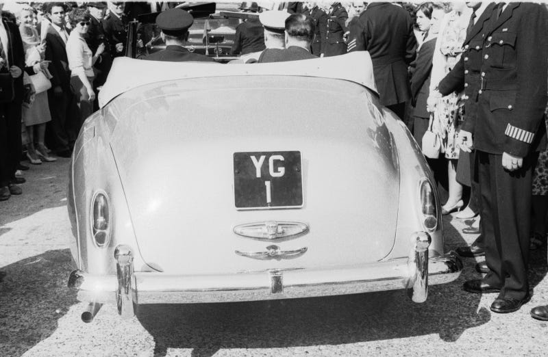 Yuri Gagarin drove around London in this Rolls with YG 1 plates