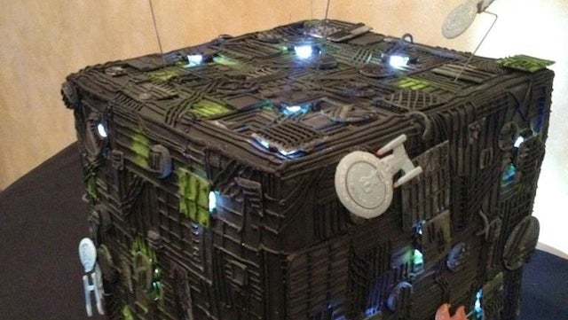 We can't resist this massive Borg Cube wedding cake