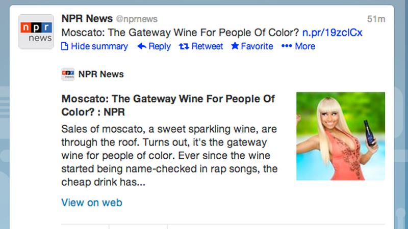 """NPR Be Like """"Black People Be Like 'I Love Moscato'"""""""