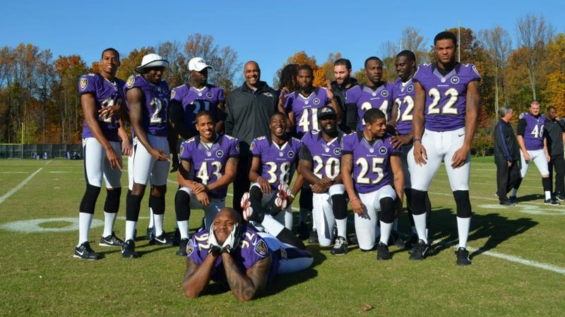 Terrell Suggs Acted Like A Kid With ADD On Ravens Photo Day