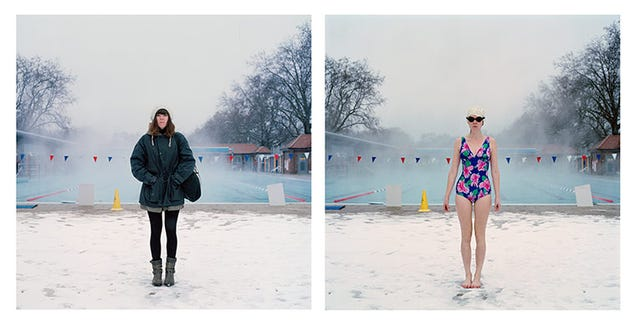 Crazy Humans Explain Why They Swim Outdoors in Below-Freezing Temps