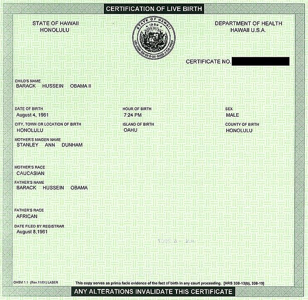 Get Your Own Copy of Obama's Birth Certificate for Just $100