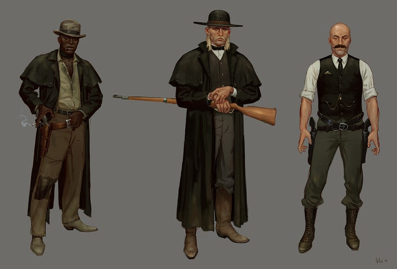 The Dusty Concept Art of Red Dead Redemption