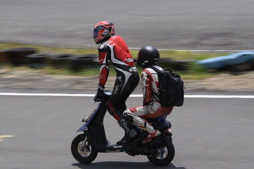 Tandem Scooter Racing