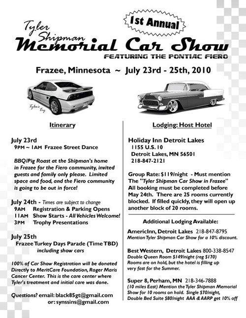 Announcing The Tyler Shipman Memorial Car Show