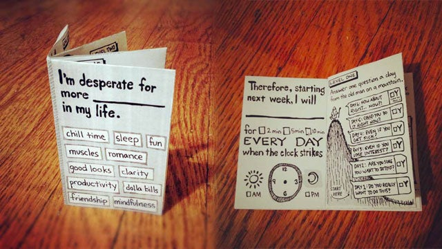 Hipster Habit App Is a Pocketable, Printable Mini-Book Designed to Help You Create or Remove Habits in 30 Days
