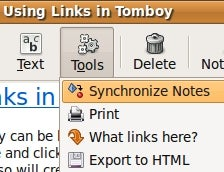 Synchronize Tomboy Notes with Dropbox