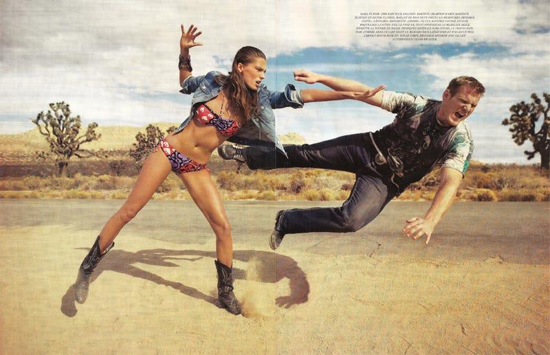 French Vogue's Swimsuit Shoot Kicks Ass