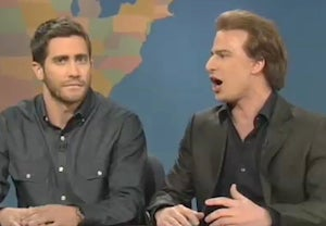 A Fake Nicolas Cage Accosts the Real Jake Gyllenhaal on SNL